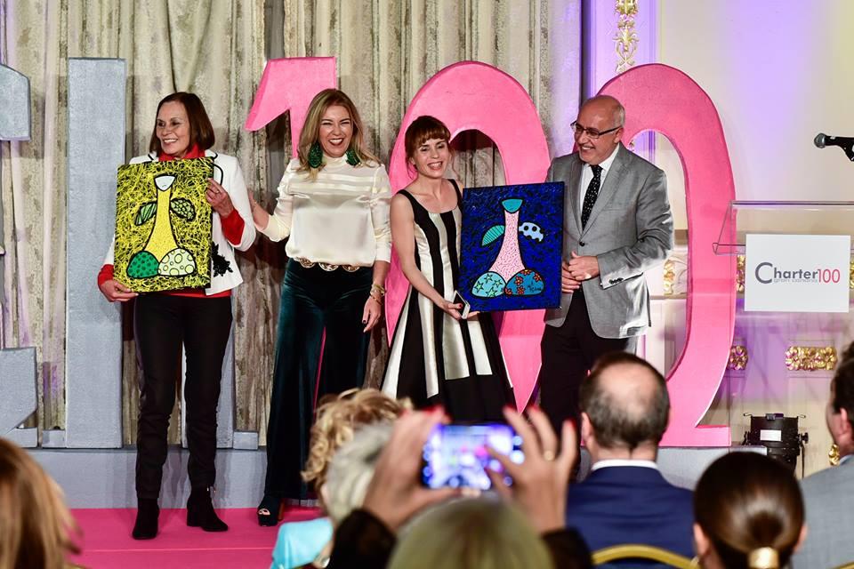 Premio Charter100 Comunicación 2017, Mara González y Flora Martín