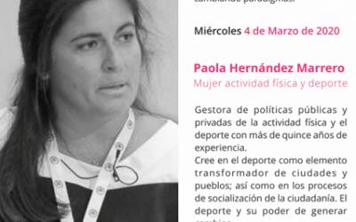 Paola Hernández, sobre la mujer y la actividad física